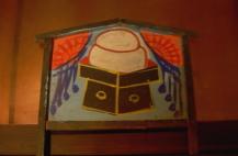 人気激安 [181ha1156] 刺しゅう梅絵四季ボカシ 高さ55cm 13~15号用 台飾り 15号 羽子板 黒塗飾り台-季節行事